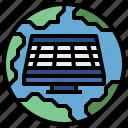 ecological, electronics, energy, industry, panel, power, renewable, solar, technology icon