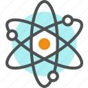 atom, chemistry, neutron, nuclear, nucleus, physics, proton, science icon
