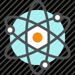 atom, chemistry, neutron, nuclear, nucleus, physics, proton, science icon