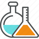 chemical, chemistry, flask, glass, glassware, lab, laboratory, tube icon