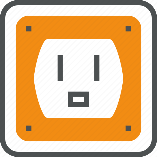 connector, electrical, electricity, outlet, power, socket, source, supply icon