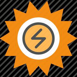 alternative, energy, heat, power, production, solar, source, sun icon
