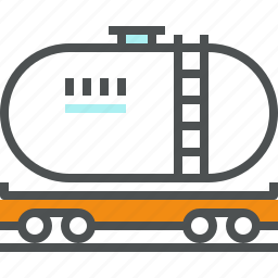 fossil, fuel, oil, railway, shipping, tank, tanker, transportation icon