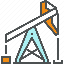 extraction, fuel, industry, oil, petroleum, production, pump, tower icon