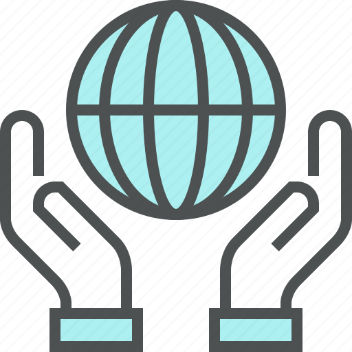 Care, conservation, global, hands, planet, protection, world icon - Download on Iconfinder