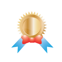 conversion, ribbon, achievement, award, badge, best, gift, gold, medal, prize, reward, trophy, win, winner