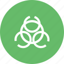 alert, biological, danger, hazard, label, safety, threat icon