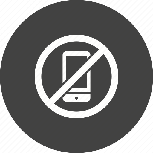 call, cell, label, mobile, no, phone, telephone icon