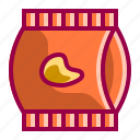 chips, dessert, food, meal, potato, restaurant, salty icon