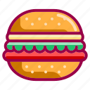 burguer, cook, cooking, eat, food, meal, restaurant icon