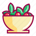 cooking, food, kitchen, meal, restaurant, salad, vegetable icon