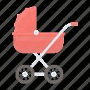 baby, movement, newborn, stroller, walk icon