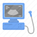 apparatus, computer, examination, monitor, pregnancy, ultrasound icon