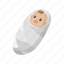 adorable, baby, cartoon, child, infant, kid, newborn icon