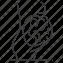 pregnant, woman, fetus, pregnancy icon