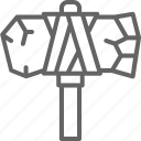 antique, hammer, mallet, prehistoric, primitive, time icon
