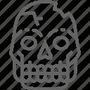 line, man, pithecanthropus, prehistoric, primitive, skull icon