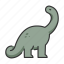 animal, apatosaurus, dinosaur, extinct, wildlife icon