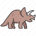 animal, dinosaur, extinct, triceratops, wildlife icon