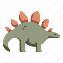 animal, dinosaur, extinct, stegosaurus, wildlife icon