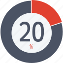 data, graphics, indicator, loading, percent, segment, twenty icon