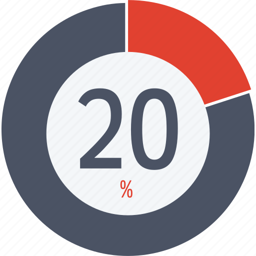 data, graphics, indicator, loading, percent, segment, twenty icon