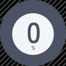data, graphics, indicator, loading, percent, segment, zero icon