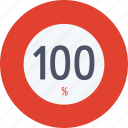 data, graphics, hundred, indicator, loading, percent, segment icon