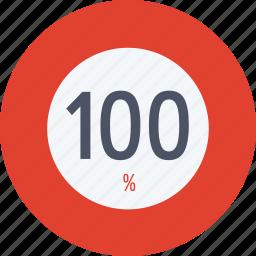 data, graphics, hundred, indicator, loading, percent, segment icon