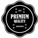 guaranteed, label, premium, product, quality, tag icon