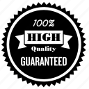 guaranteed, high, label, premium, product, quality, tag icon