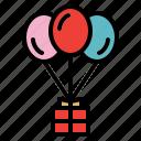 balloon, gift, present, surprise icon
