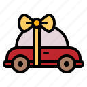 car, gift, present, surprise icon