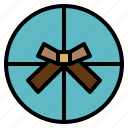 circle, gift, present, special icon