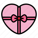 gift, heart, present, surprise icon
