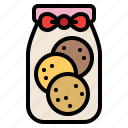 bow, cookie, gift, present
