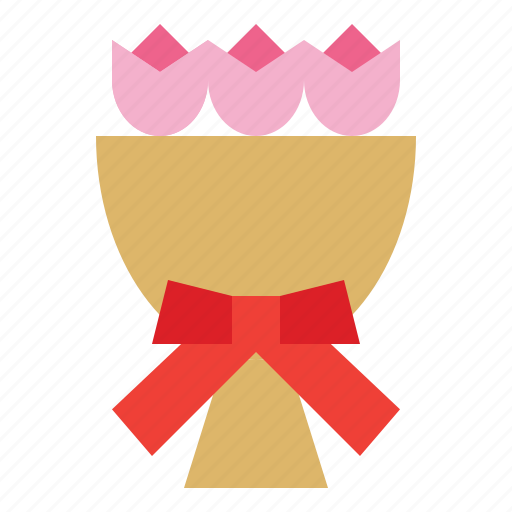 bouquet, bow, flower, gift icon