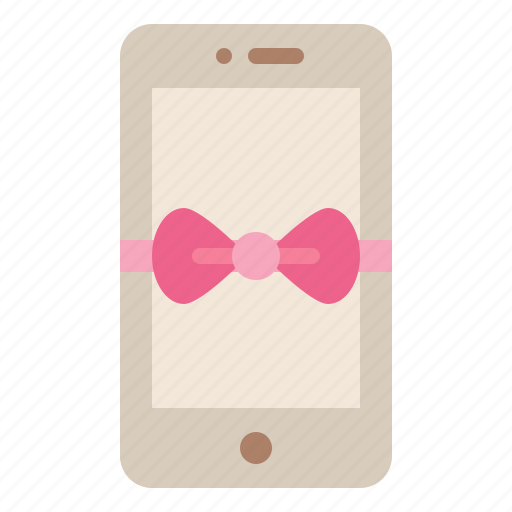 bow, gift, phone, special icon