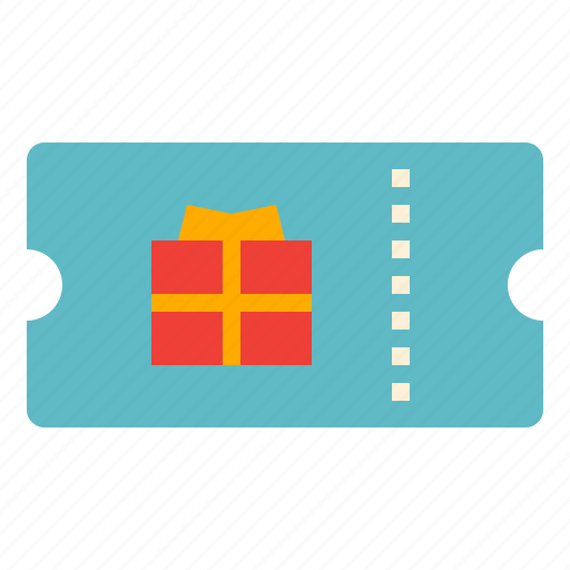 gift, shopping, ticket, voucher icon