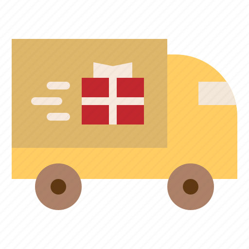 Delivery, gift, shopping, truck icon - Download on Iconfinder