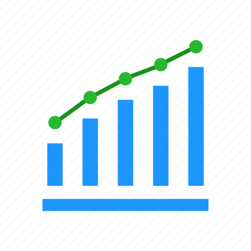 bar graph, chart, marketing, statistic icon