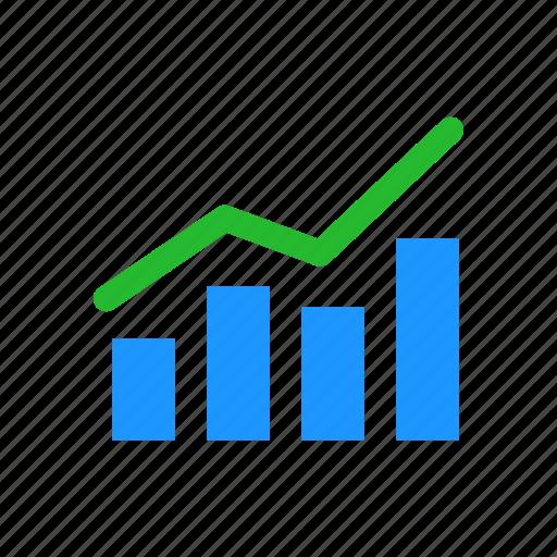 bar graph, chart, data analysis, sales icon