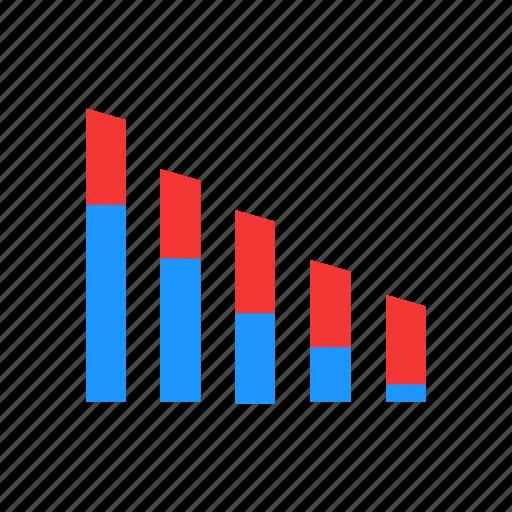 bar graph, chart, marketing, statistics icon