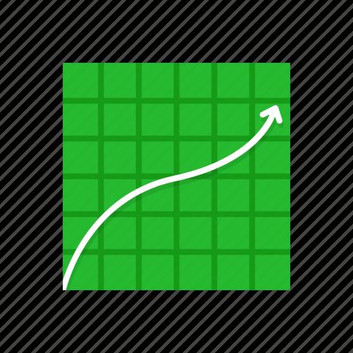 chart, data analysis, line graph, sales icon