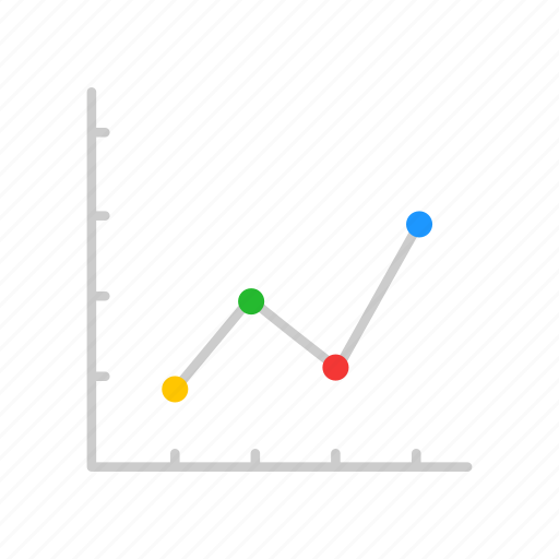 chart, data analysis, dotted graph, sales icon