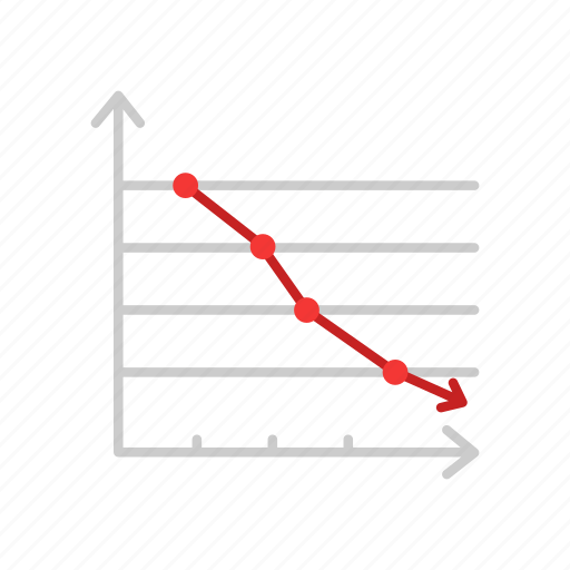 chart, dotted graph, marketing, sales icon