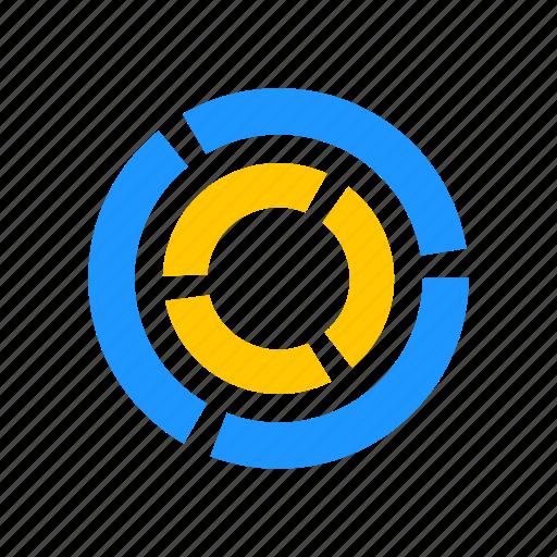chart, data analysis, marketing, pie graph icon