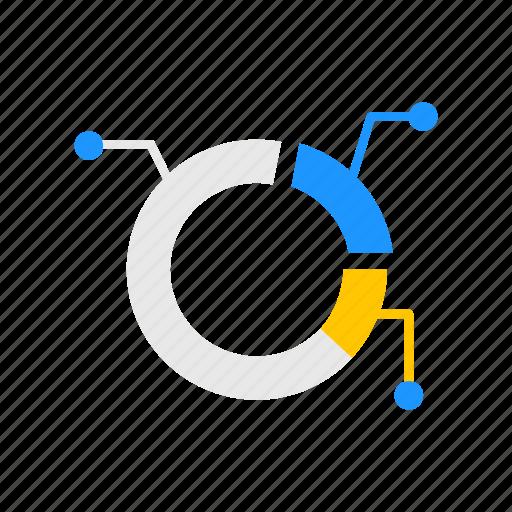 chart, marketing, pie graph, sales icon