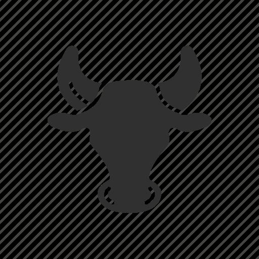 animal, bull, bull marketing, stock market icon