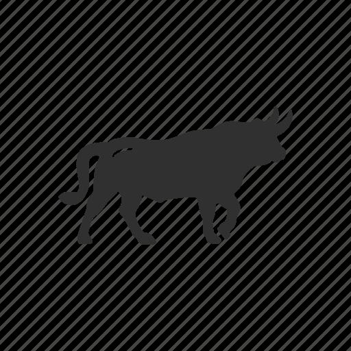 animal, bull, bull marketing, stock marketing icon